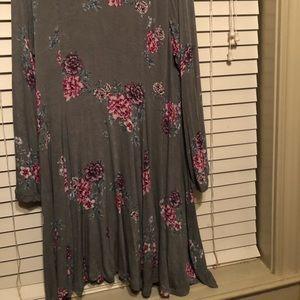 torrid Dresses - Gray and floral lined torrid dress